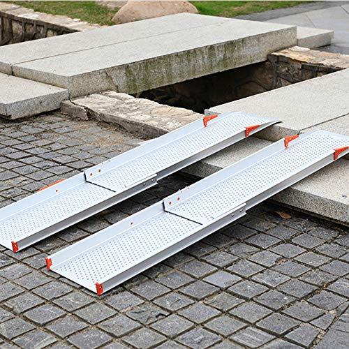 LIPETLI Accesibilidad Rampas Sillas Ruedas Aluminio Aleación Durable Pendiente Plato Portátil Plana Minusválidos Acceso Sin barreras Rampa