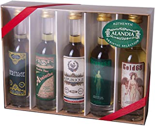 Absinth Tasting Set | Mit original Absinth von ALANDIA | Ideal zum Ausprobieren und Verschenken | 68% Vol. | 5x 0.05 l
