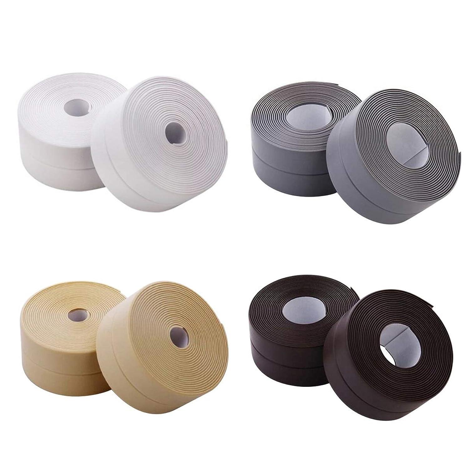 Sealing Strip Flexible Self Adhesive Caulking Tape Waterproof for Kitchen Bathroom Tub Shower Floor Wall Edge Protector (Color : Grey)