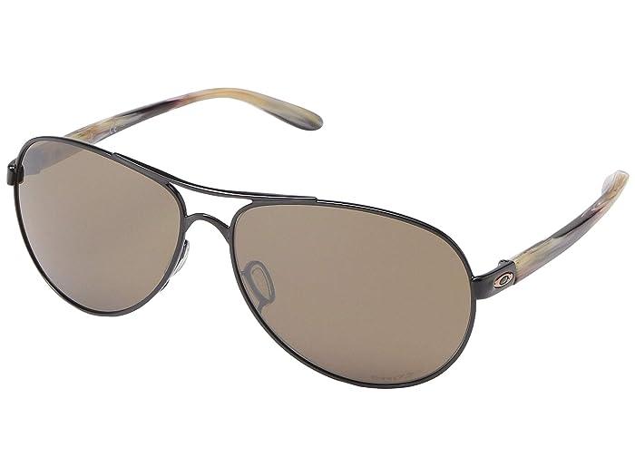 Oakley Feedback (Polished Black w/ PRIZM Tungsten) Sport Sunglasses
