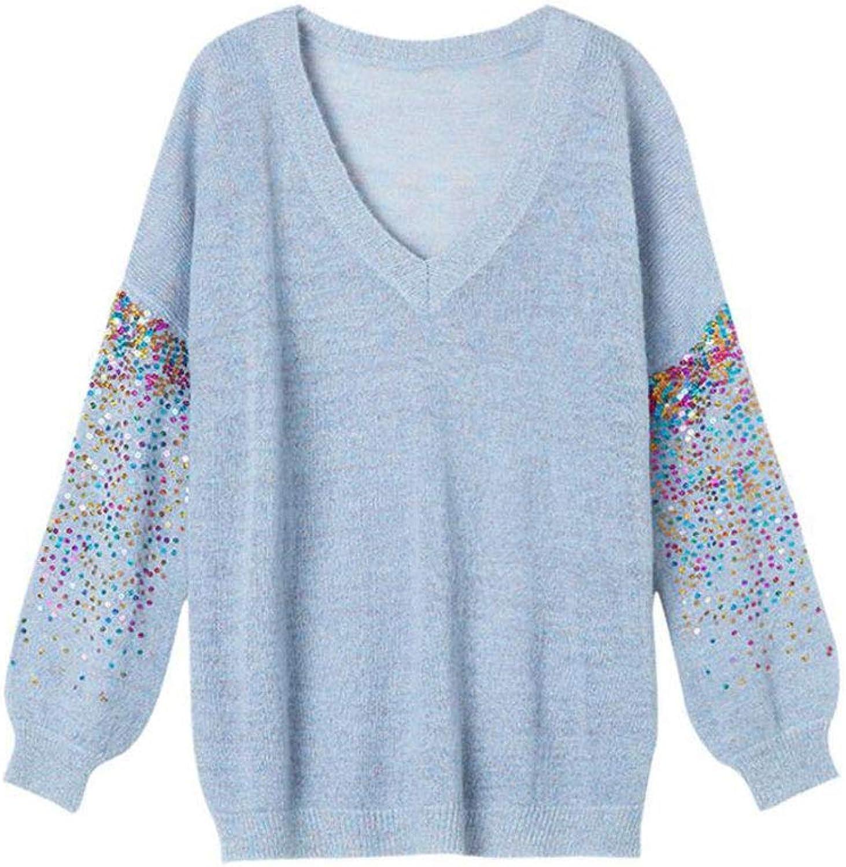 Women's sweater, loose sweater large size long sleeve sweater