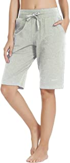 Willit Women's Active Yoga Lounge Capris Workout Running Pants with Pockets