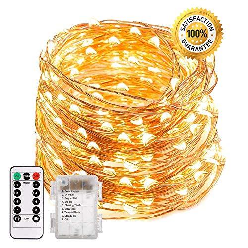 Luces Decorativas LED| Lucesen cadena de 20 my 200 foquitos LED |8 Tipos de Iluminación | Luces Decorativas que Funcionan para Patio, Jardín, Bodas |...