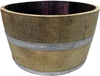MGP Genuine Oak Wood Half Wine Barrel Planter, 27