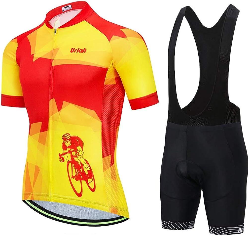 Uriah Men's Max 79% OFF Bicycle Jersey Bib Set Short Shorts Reflective Fort Worth Mall Black