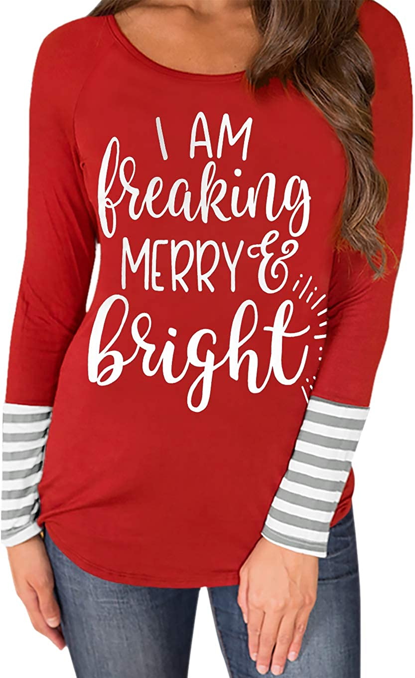 For G and PL Women's Christmas High quality new Tops Max 84% OFF Striped Print Graphic