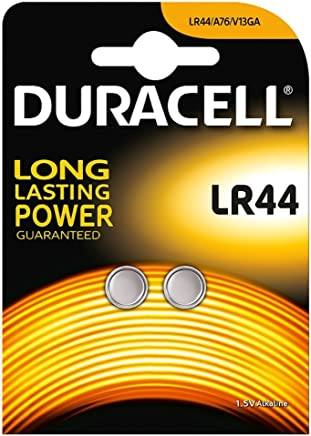 Duracell Specialty LR44 Alkaline Button Battery 1,5V, pack of 2 (76A / A76 / V13GA) designed for use in toys, calculators and measurement devices