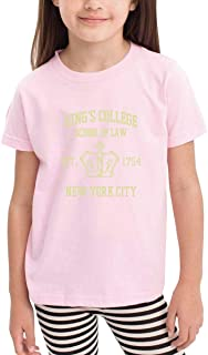 Cute Cotton Toddler HAM-ILT-ON BRO-ADWAY MU-SICAL Kings College School of Law Est. 1754 Greate-1 Shirts Pink