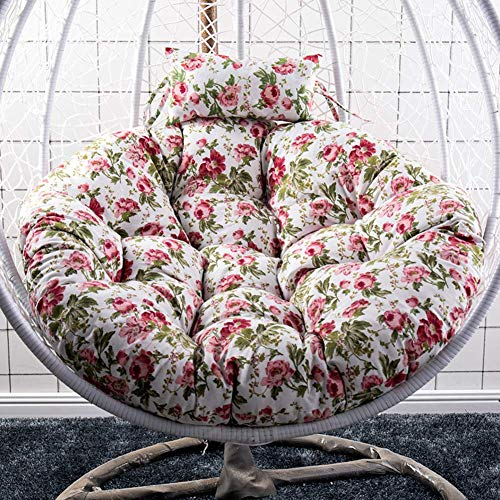 Hanging Hammock Chair Cushions, Without Stand Round Swing Seat Cushion Thick Nest Hanging Chair Back With Pillow j D105cm,Chair Pads