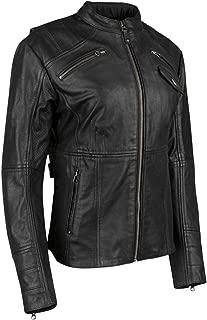 Speed & Strength Women's Seventh Heaven Leather Jacket (XXXX-Large) (Black)