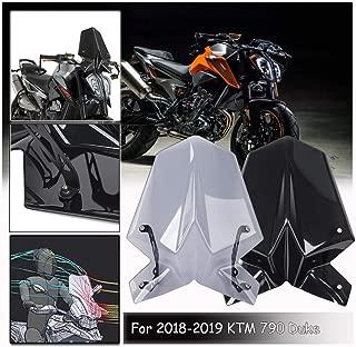 LoraBaber Motorradzubeh/ör Windschutzscheibe Flyscreen Deflector f/ür Harley Dyna Softail Slim Rauch