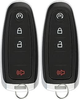 KeylessOption Keyless Entry Remote Start Smart Key Fob Alarm for Ford C-Max Edge Explorer Flex Lincoln M3N5WY8609 (Pack of 2)