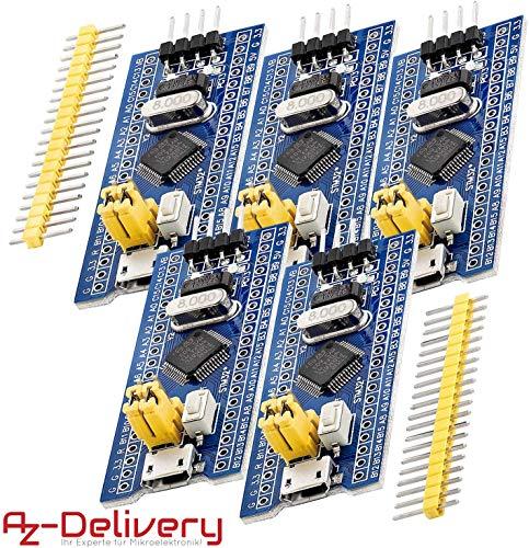 AZDelivery 5 x Carte de développement STM32, 100% Compatible Arduino Nano V3 CH340