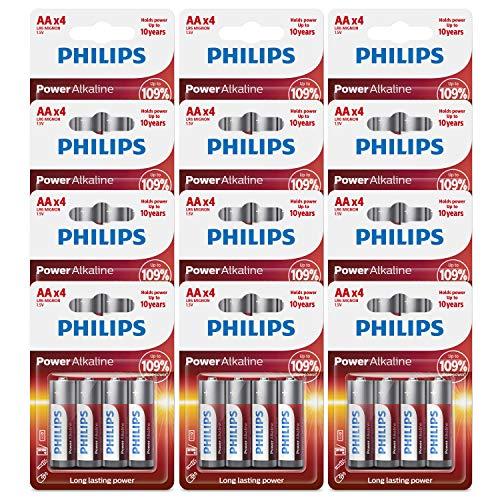 Philips AA Batteries (48 Count) Power Alkaline - BB Date: 11-2028 (48 Count)