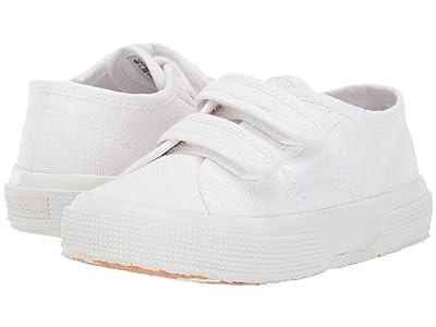 Superga Kids 2750 JVEL Classic (Toddler/Little Kid) (White/Gold) Girls Shoes
