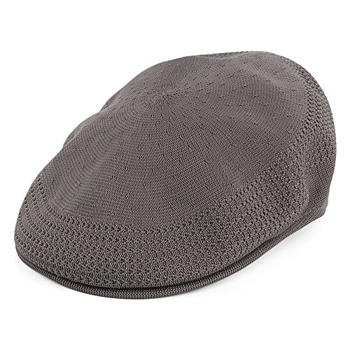 Kangol Casquette Plate en Tropic 504 Ventair Anthracite Large