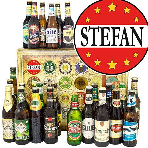 Stefan/Geschenkbox Bier Welt und DE/Stefan Jubiläum Geschenk/Weihnacht Kalender Bier