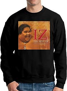 XMLNMALL Iz ISRA-el Kamaka-wiwo'ole Leisure Travel Long Sleeve Cotton Sweatshirt Black