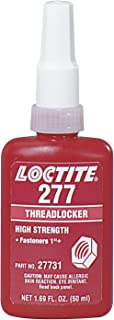 Loctite 88448 277 Threadlockers, High Strength, 50 mL, 1 1/2 in Thread, Red