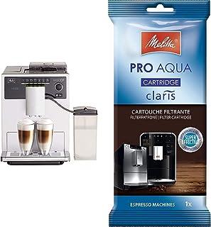 Melitta Caffeo CI, Argent, E970-101, Machine à Café, Expresso et Boissons Chaudes Automatique avec Broyeur à Grains, Fonct...