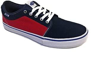 Men's Chukka Low Pro Dress Blues/Racing Red Skateboarding Shoe VN0A2XSFJCG