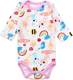 Yanvan Infant Baby Boy Girl Outfit Long Sleeve Animal Print Romper Jumpsuit Clothes
