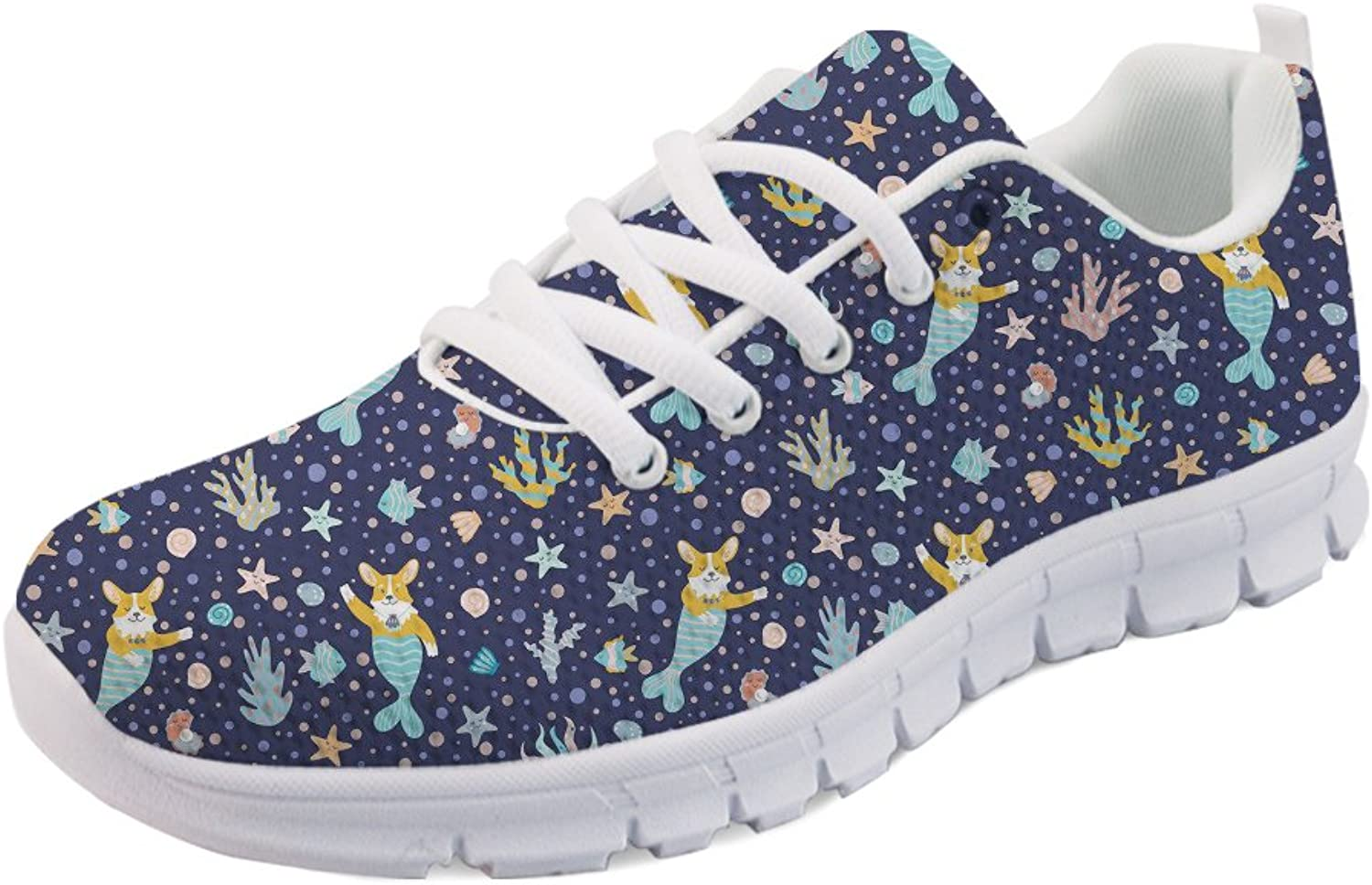 HUGS IDEA Cats Printed Women's Cute Casual Running Sneakers Tennis shoes