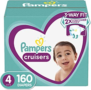 Diapers Size 4 (160 Count) - Pampers Cruisers Disposable Baby Diapers, ONE MONTH SUPPLY