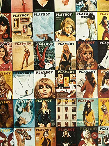 Vintage Playboy Magazine Covers Collage Poster Print Wall Decor Gift Vintage Playboy Poster Playboy Adult Gifts Playboy Wall Artwork Decoration