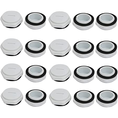 uxcell M20 Nylon Male Threaded Cable Gland Screw End Cap Cover Gray 10pcs
