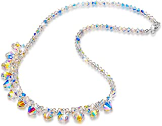 LADY COLOUR Christmas Necklaces Gifts for Women A Little Romance Necklace Jewelry, Aurora Crystals from Swarovski Hypoallergenic Jewelry Gift Box Packing, Nickel Free Passed SGS Test Anniversary Gifts