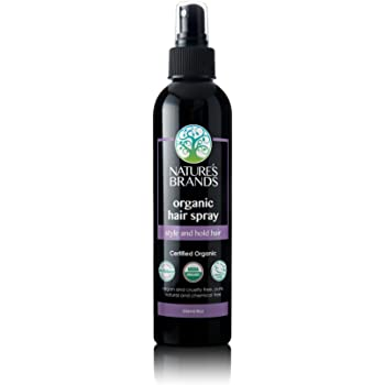 Organic Hair Spray by Herbal Choice Mari (8 Fl Oz Bottle) - No Toxic Synthetic Chemicals
