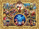 Ceaco Thomas Kinkade The Disney Collection Mickey's 90th Birthday Collage Jigsaw Puzzle, 1500 Pieces