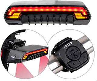 Bike Tail Light OUTERDO Waterproof Bicycle LED Rear Light Wireless Remote USB Charging Safety Laser Beams Lamp Warning Fla...