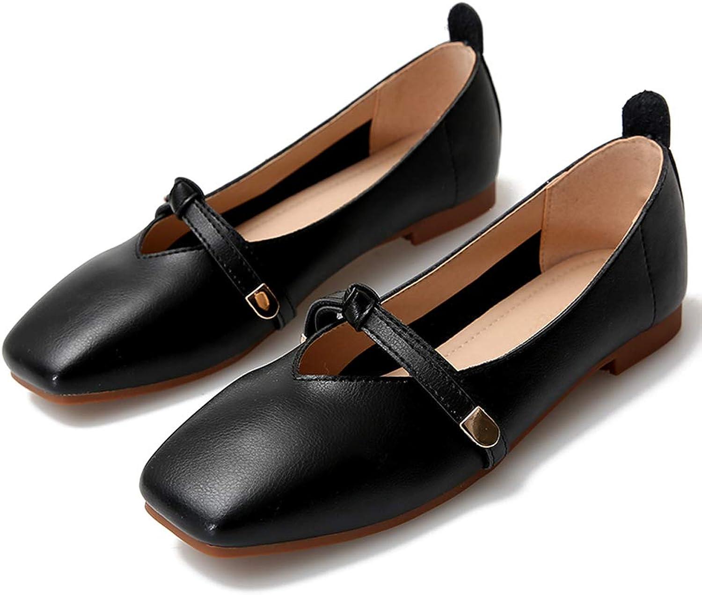 DANNV Freizeitschuhe Flache Schuhe Stiefelschuhe Brautjungfer Schuhe Mary Jane Schuhe schwarz-37(235mm)