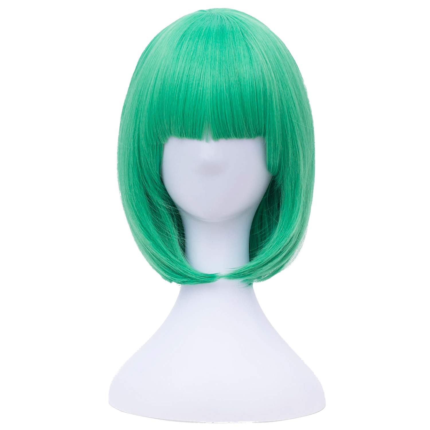 Green Short Straight Synthetic Natural