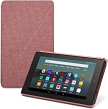 Fire 7 Essentials Bundle including Fire 7 Tablet (Plum, 16GB), Amazon Standing Case (Plum), and Nupro Anti-Glare Screen Pr...