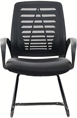 WXF Mesh Backrest Office Staff Chairs, Ergonomics Household Bow Computer Desk Chair Cool Black
