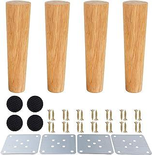 comprar comparacion Patas de muebles de madera, patas de madera para armarios y mesas de TV, gabinete, sofá, cama, mesa de comedor, paquete de...