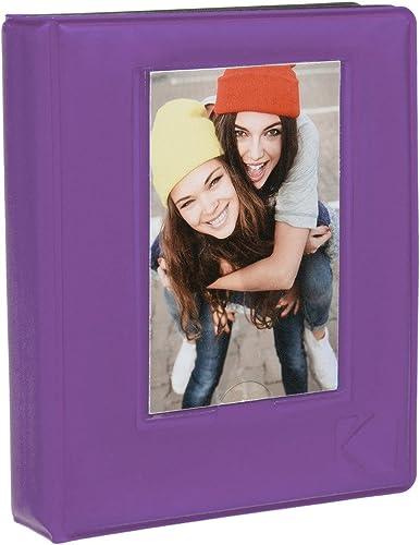 high quality Kodak 64-Pocket Sleek Album w outlet online sale Window Cover for 2x3 Photo Paper (Printomatic, Shot, Mini 2), popular Purple online