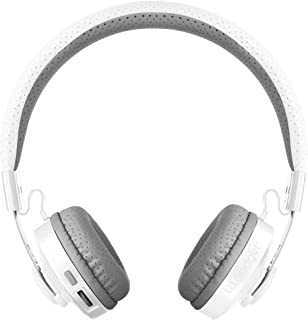 LilGadgets Untangled PRO Kids Premium Wireless Bluetooth Headphones with SharePort and Microphone (Children) - White