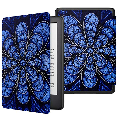 MoKo Case Fits All-New Kindle (10th Generation - 2019 Release Only), Thinnest Protective Shell Cover with Auto Wake/Sleep, Will Not Fit Kindle Paperwhite 10th Generation 2018 - Rattan Flower Blossom