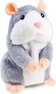 Bestland Plush Interactive Toys PRO Talking Hamster Repeats What You Say Electronic Pet Chatimals Mouse Buddy for Boy and ...