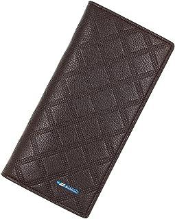 BeniNew men's wallet business long wallet-dark brown