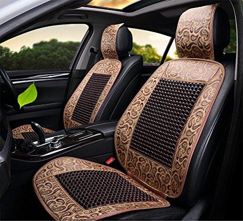DIELIAN Natural Wood Bead Seat Cover Cool Comfort Kussen - Vermindert Vermoeidheid De auto of vrachtwagen of uw bureaustoel