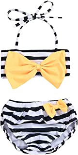 2pcs Toddler Baby Girls Swimwear Cute Straps Bikini Set Swimsuit Beachwear Outfits
