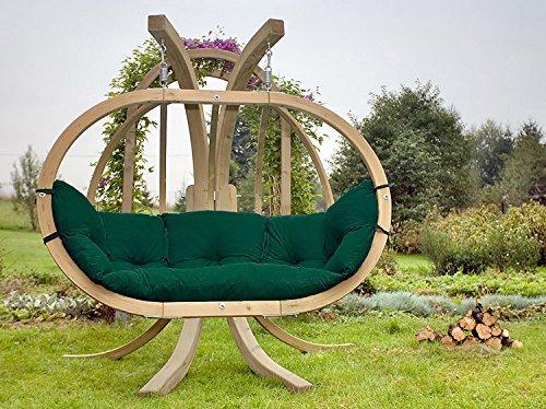 AMAZONAS Hängesessel in edlem Design Globo Royal Chair Green Weatherproof Mehrpersonen ca. 175 x 120 x 70 cm bis 200 kg in Grün - 2