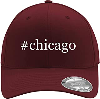 #Chicago - Adult Men's Hashtag Flexfit Baseball Hat Cap