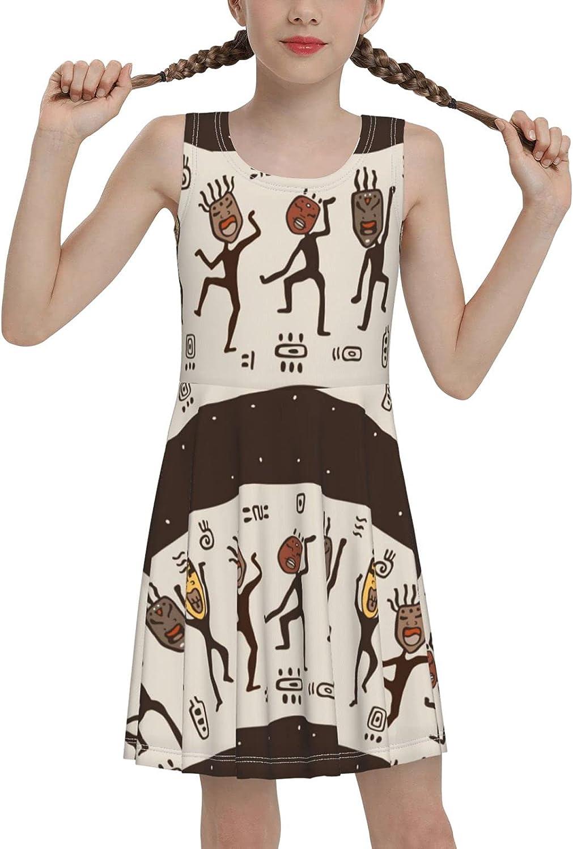 Koi Fish Girls Dress Sleeveless Casual Print One Piece Dress for Girls 7-16 Years
