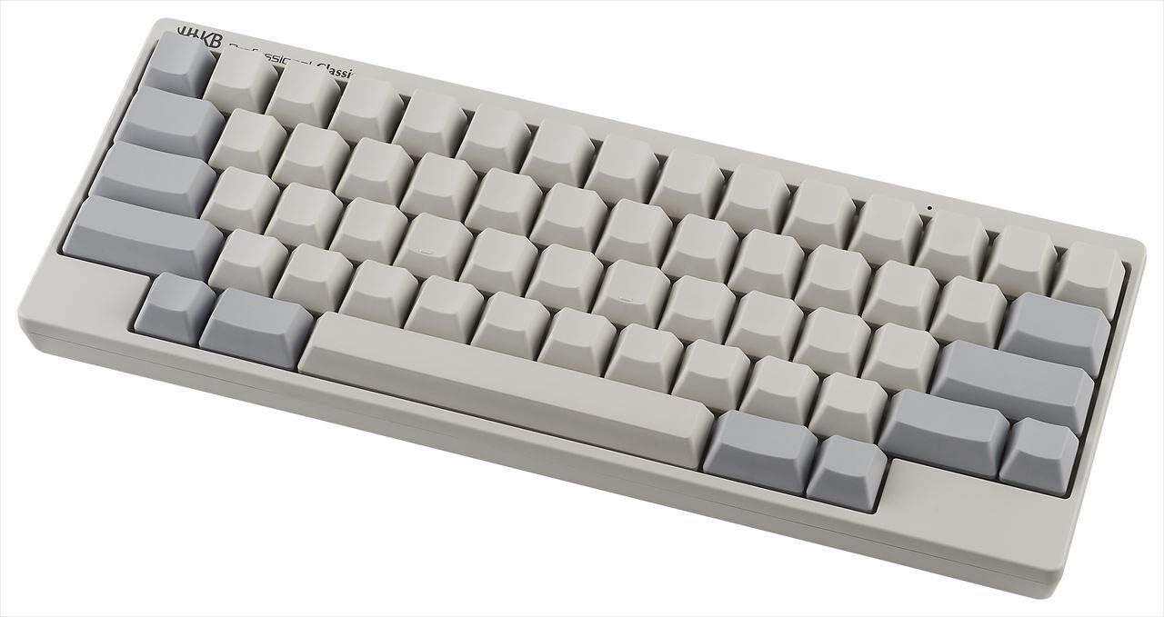 HHKB Classic Keyboard PD-KB401WN, Teclas en blanco, Teclado mecánico profesional 60%, Compacto, USB-C (Blanco)